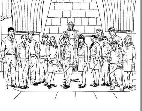 disegni da colorare di harry potter foto di classe harry potter da colorare disegni da