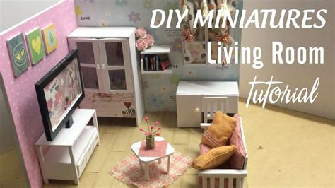 diy dollhouse miniature living room diy furniture set
