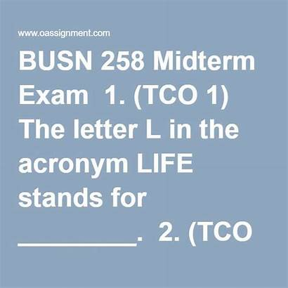 Letter Acronym Exam Customer Stands Tco Oassignment
