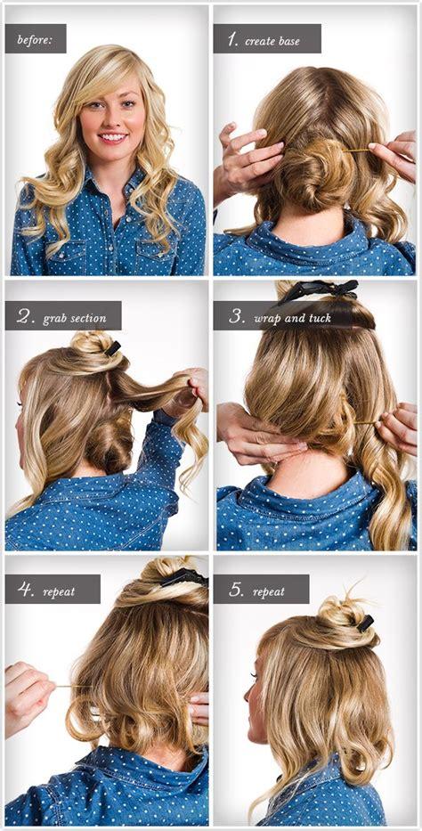 how to make long hair short faux bob hair tutorials