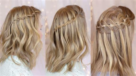 waterfall braids  short hair youtube