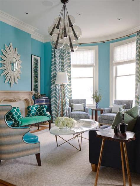 Turquoise Living Room Houzz