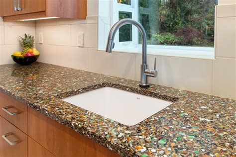 recycled glass countertop   Roselawnlutheran