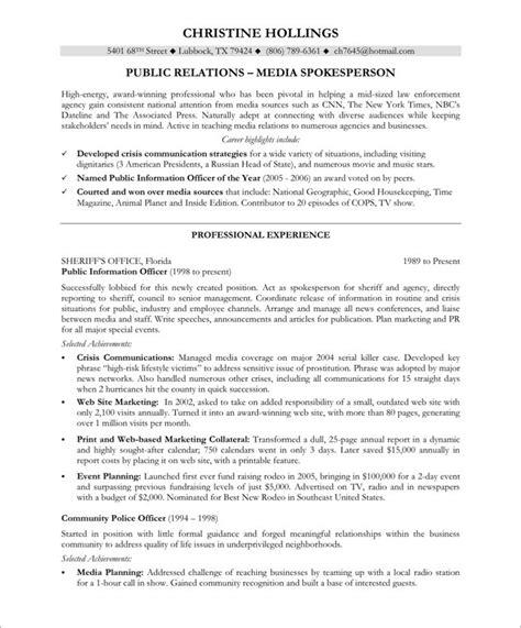 excellent media relations manager resume pictures