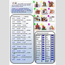 17 Free Esl For And Since Worksheets