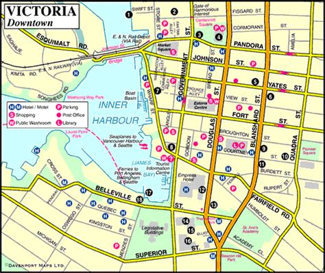 map  victoria downtown vancouver island british