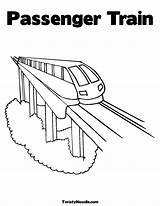 Train Coloring Amtrak Colouring Passenger Popular Template Coloringhome sketch template