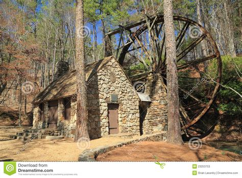 Historic 1930 Georgia Grist Mill Stock Image Image Of