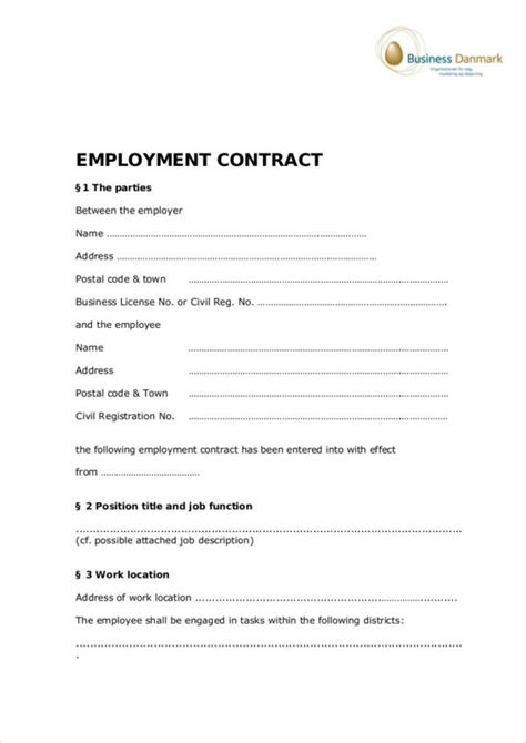 FREE 22+ Employee Contract Templates in Docs | Word