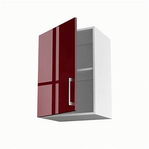 Porte De Meuble : meuble de cuisine haut rouge 1 porte griotte x x cm leroy merlin ~ Teatrodelosmanantiales.com Idées de Décoration
