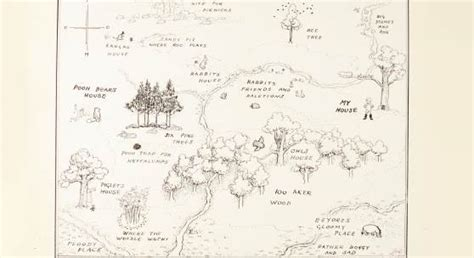 | The Original Map Of Winnie-the-pooh's Hundred Acre Wood