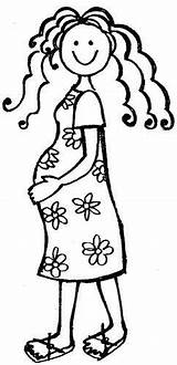Pregnant Lady Woman Mum Baby Drawing Digi Stamps Coloring Pages Line Da Rubber Stamp Clip Template Teacher Posters Pregnancy Printable sketch template