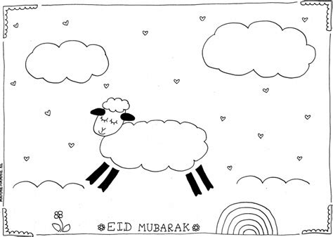 Kleurplaat Eid by Gratis Schaapjes Kleurplaten Voor Eid Ul Adha
