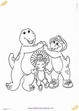 Barney Coloring Pages Bop Riff Draw Friends sketch template
