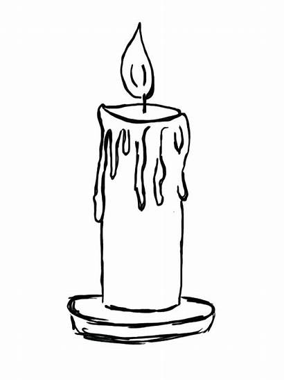Candle Coloring Pages Birthday Sketch Candles Printable