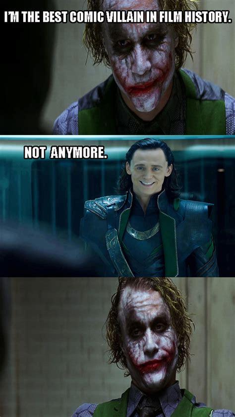 Dark Knight Meme - joker vs loki dark knight 4 pane know your meme