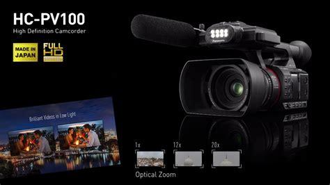 panasonic hc pv  semi pro video camera main features
