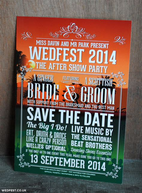 concert poster save  date wedfest
