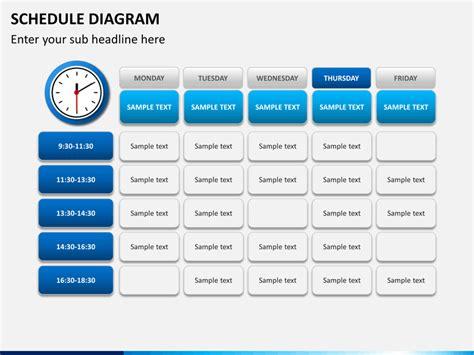 powerpoint schedule diagram sketchbubble