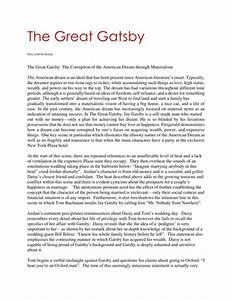 Essay On Great Gatsby Csr Dissertation Topics Critical Analysis On  Essay On The Great Gatsby Love Full