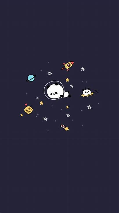 Kawaii Wallpapers Animated Cartoon Panda Drawing Illustration