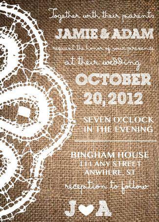 gorgeous rustic wedding invitations
