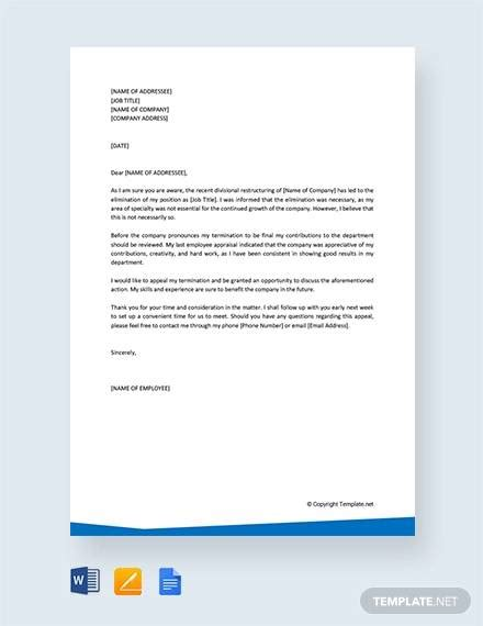 appeal letters   samples examples format