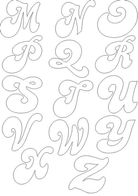 moldes abecedario letra cursiva colorear alfabetos feltro chang e 3