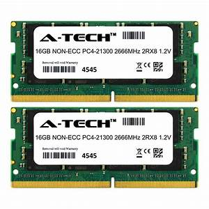32gb 2x 16gb Ddr4 Memory Ram For Dell Precision 5510 5520