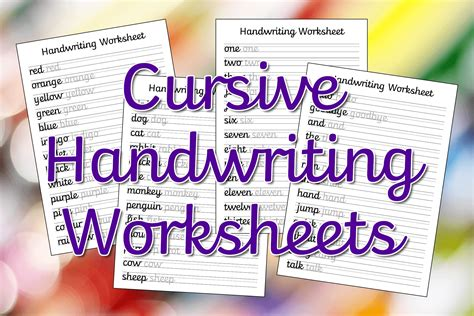 cursive handwriting worksheets  printable mama