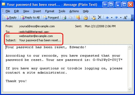 list of email addresses and passwords recovering and changing passwords vb the asp net site