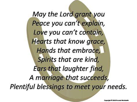 irish inspired wedding blessing print marriage blessing poem