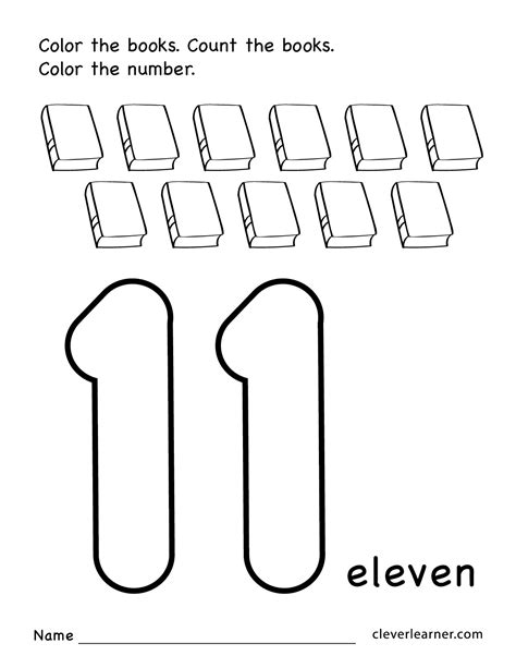 number eleven writing counting and identification 787 | Number 11 preschool worksheets 01