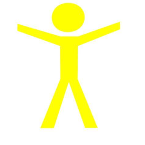 Human Clipart Human Figure Open Yellow Clip Vector Clip