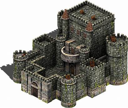 Castle Isometric Minecraft European Western Rpg 5d