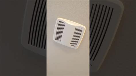 weird bathroom exhaust fan noise  windy day