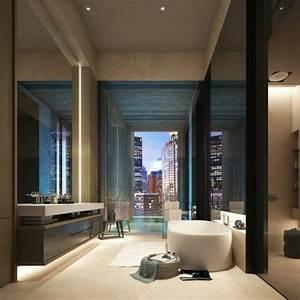 salle de bain grande fenetre solutions pour la With salle de bain design avec fausse fenetre décoration intérieure