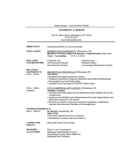 Jquery Resume Template by Accountant Resume Templates 7 Free Word Pdf Documents