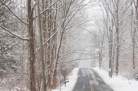 Road in snow in Simsbury - Jack McConnell Photography