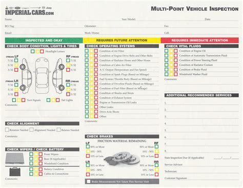 bureau inspection automobile imperial cars service department multi point vehicle