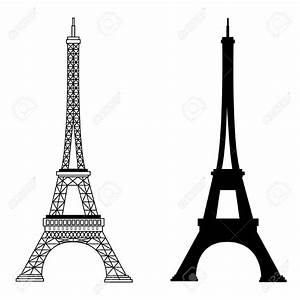 Drawn eiffel tower famous landmark - Pencil and in color ...