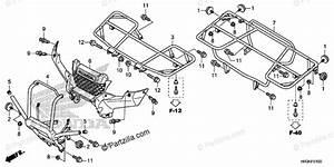 Honda Atv 2019 Oem Parts Diagram For Carrier
