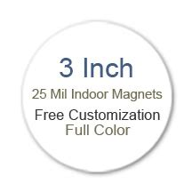 3 Inch Diameter Circle 3 Inch Custom Diameter Circle Shape Color Magnets 25