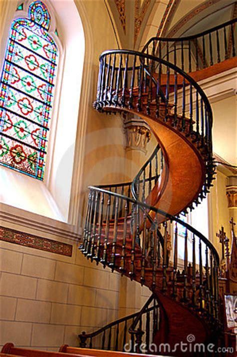 loretto chapel staircase royalty  stock images image