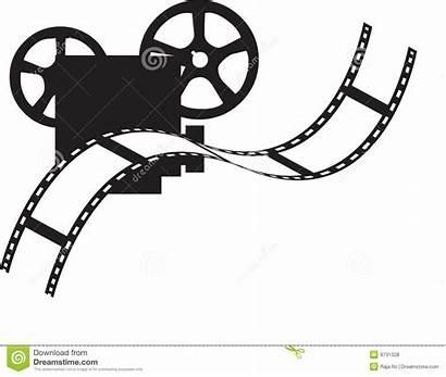 Projector Film Clipart Royalty Clip Vector Illustration