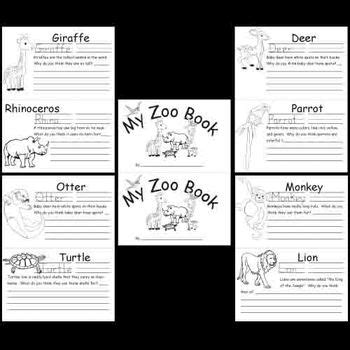 kindergarten zoo animals worksheets by kindergarten supplies tpt