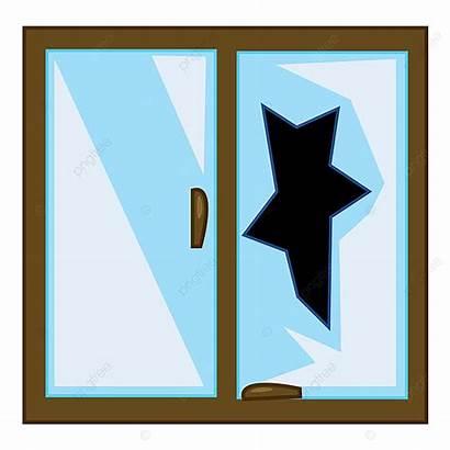 Broken Window Clipart Glass Drawing Wanton Gebroken