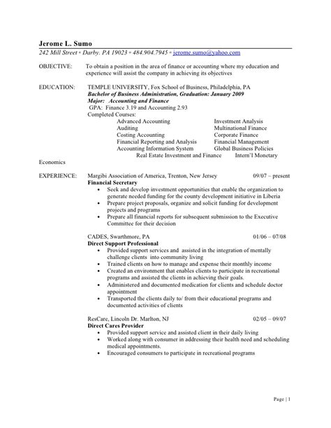 Sle Resume For Walmart Stocker by Jerome L Sumo Resume