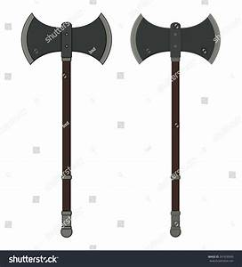 Medieval Executioner Doublesided Ax Color Vector Stock ...