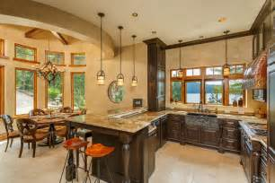 u shaped kitchen with island great rustic kitchen zillow digs